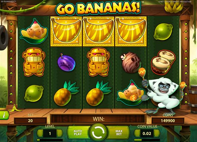 Freespins, Go Bananas, Casino, slot, videoslot, netent